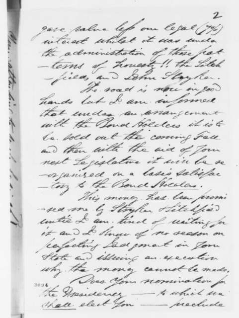 D. R. Martin to Abraham Lincoln, Friday, June 15, 1860  (Legal business)
