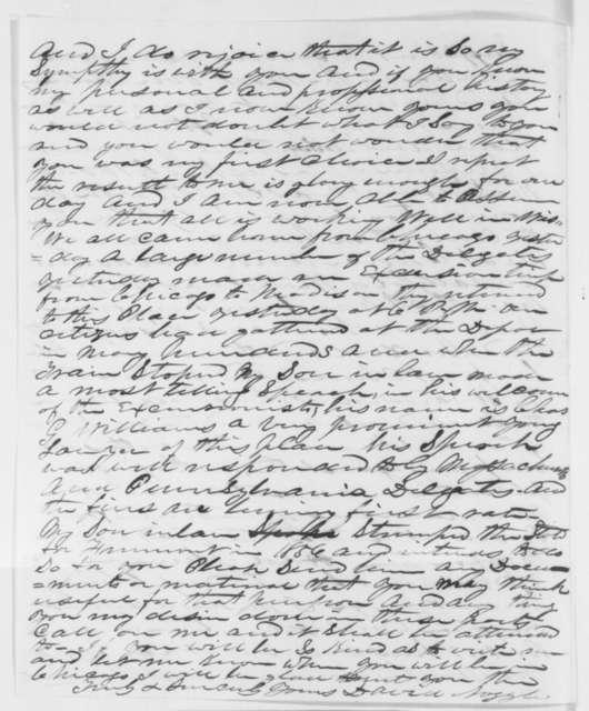 David Noggle to Abraham Lincoln, Sunday, May 20, 1860  (Congratulations)