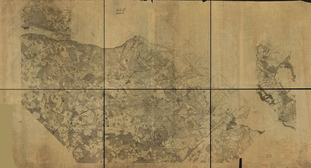 [Detailed map of part of Virginia from Alexandria to the Potomac River above Washington, D.C. 186-].