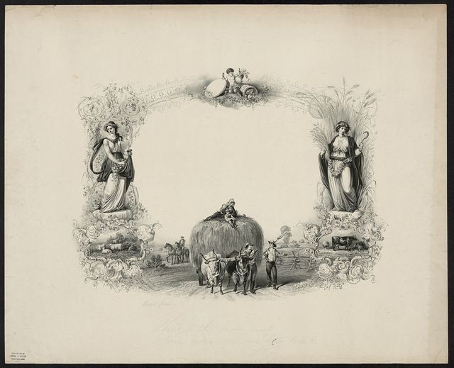 [Diploma of the Philadelphia Society for Promoting Agriculture, awarded to [blank] at the annual exhibition held at Powelton, Philada. Sept. 1860] / Schmolze 1860 ; J. Queen.