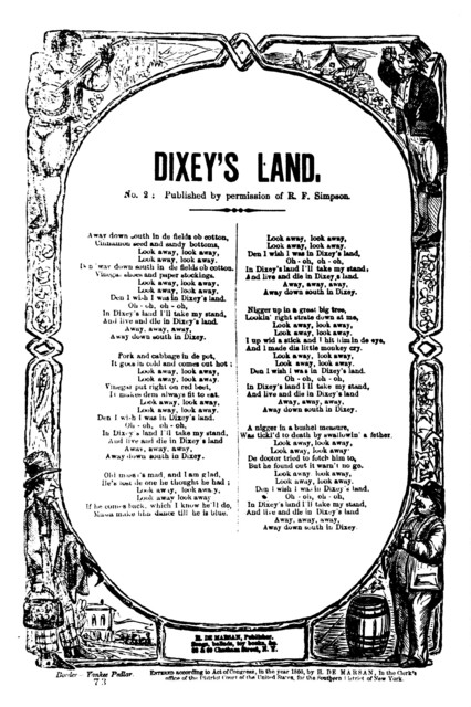 Dixey's land. No. 2: Published by permission of R. E. Simpson. H. De Marsan, No. 60 Chatham Street, N. Y