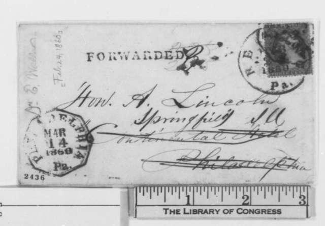 Edward Wallace to Abraham Lincoln, Friday, February 24, 1860  (Invitation)