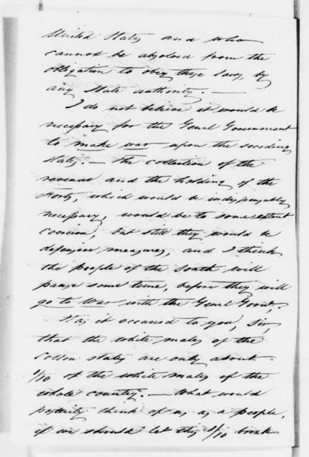 Edwin V. Sumner to Abraham Lincoln, Monday, December 17, 1860  (Has permission to accompany Lincoln on trip to Washington)