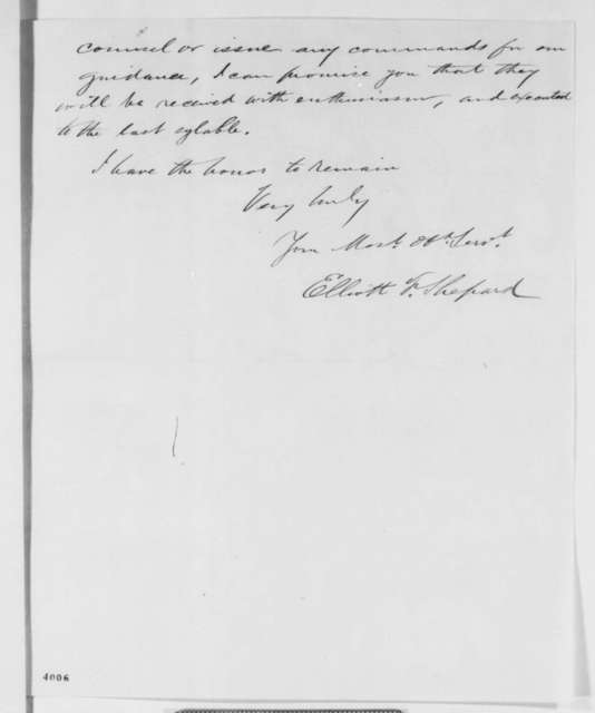 Elliott F. Shepard to Abraham Lincoln, Monday, October 15, 1860  (New York politics)