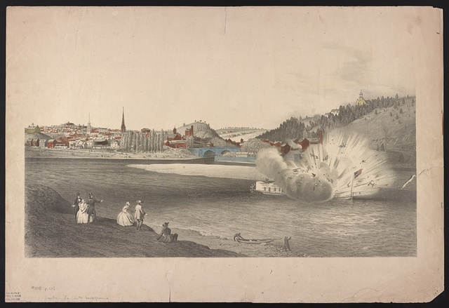 [Explosion of the Alfred Thomas at Easton Pa. March 6th 1860]