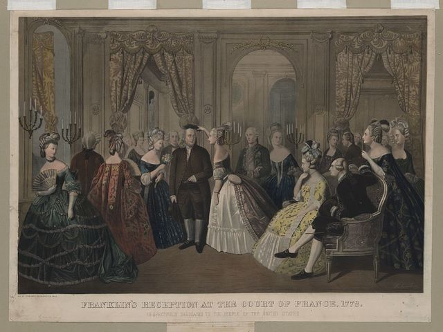 Franklin's reception at the court of France, 1778. Respectfully dedicated to the people of the United States / Hohenstein.