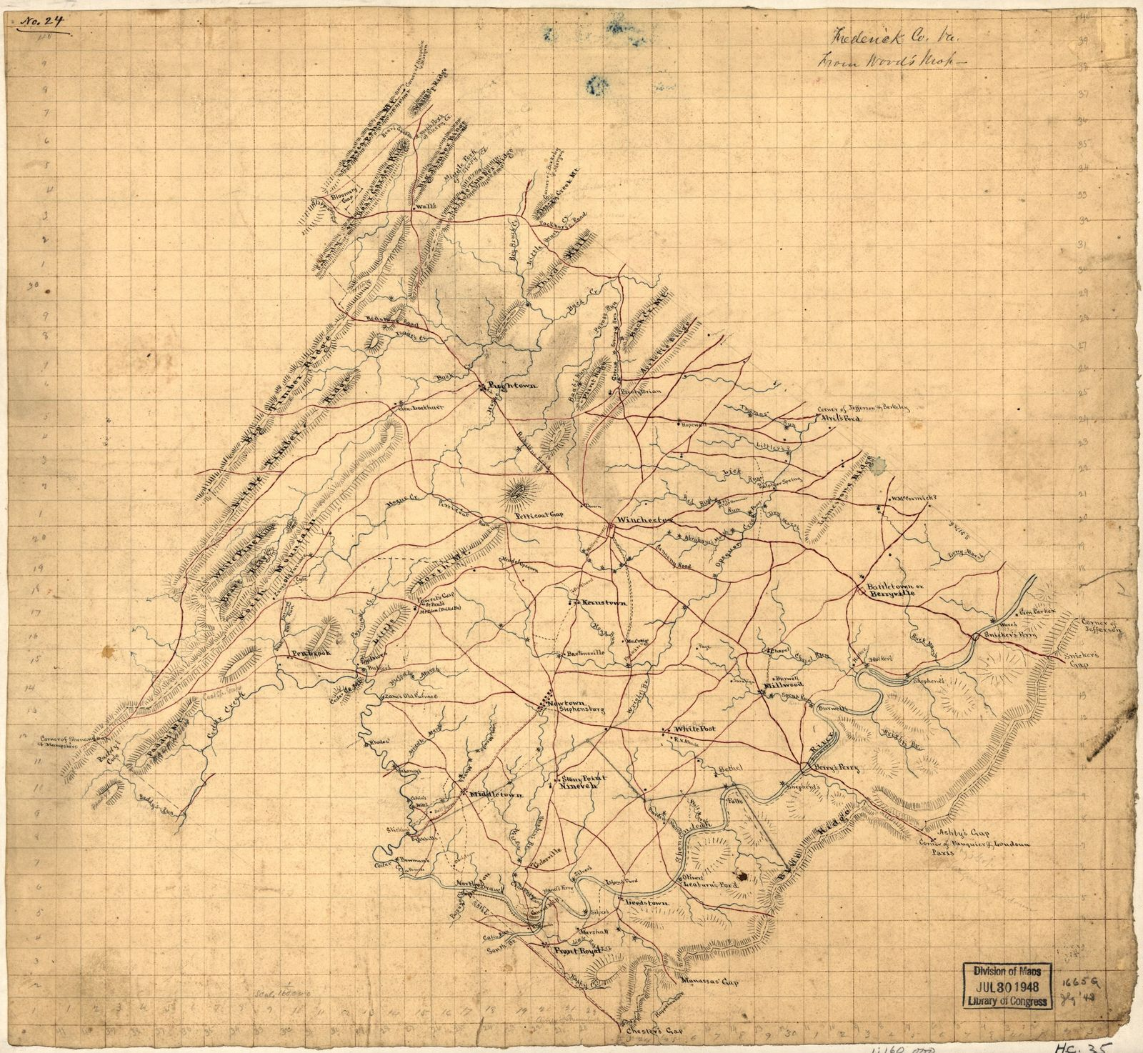 Frederick Co. Va., from Wood's map.