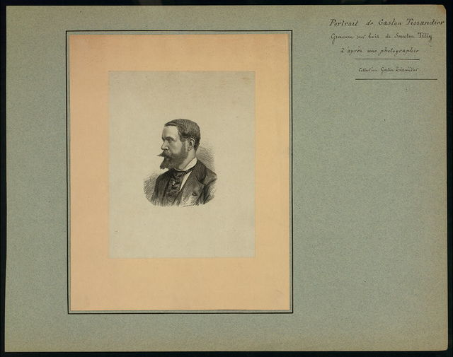 [Gaston Tissandier, French balloonist, head-and-shoulders portrait] / Smeeton Tilly.