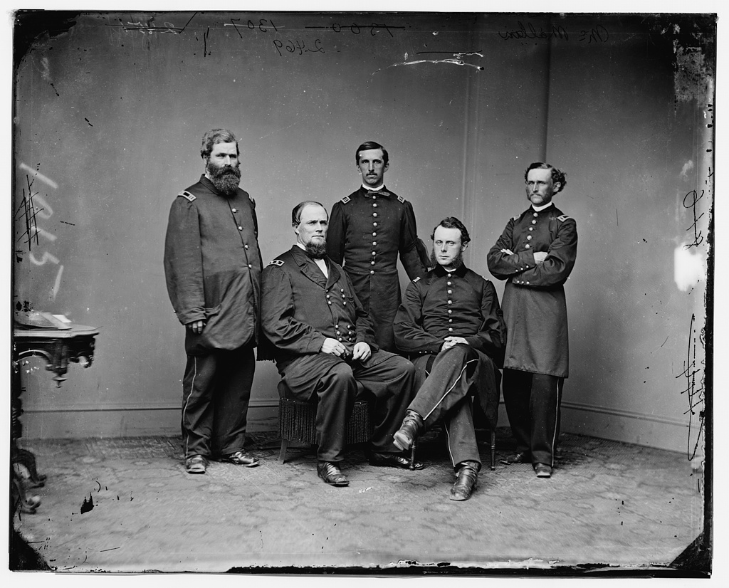 Gen. James W. McMillan and staff