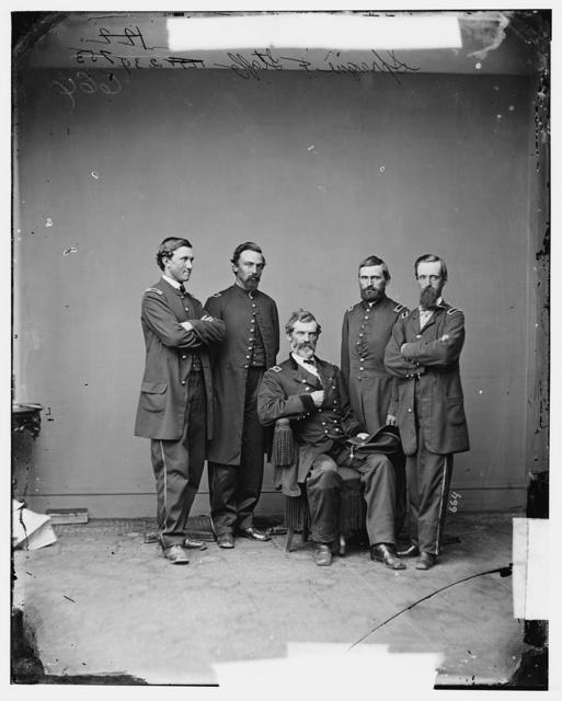 Gen. John W. Sprague, U.S.A. and staff
