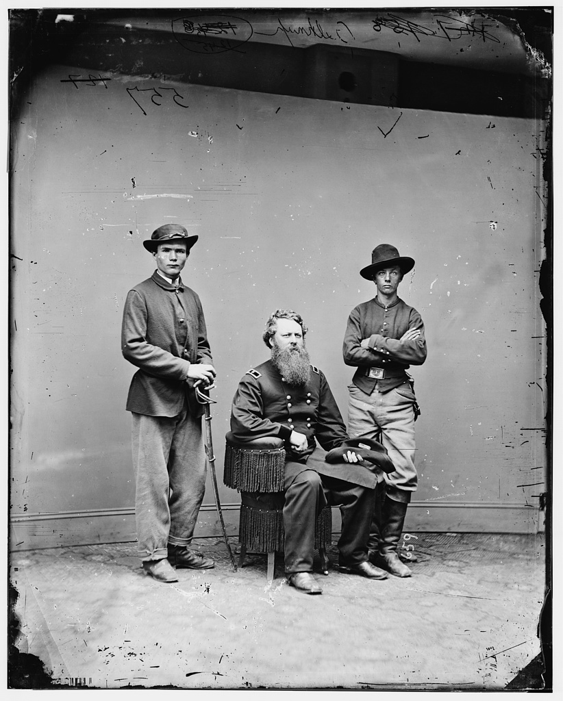 General Belknap and aides