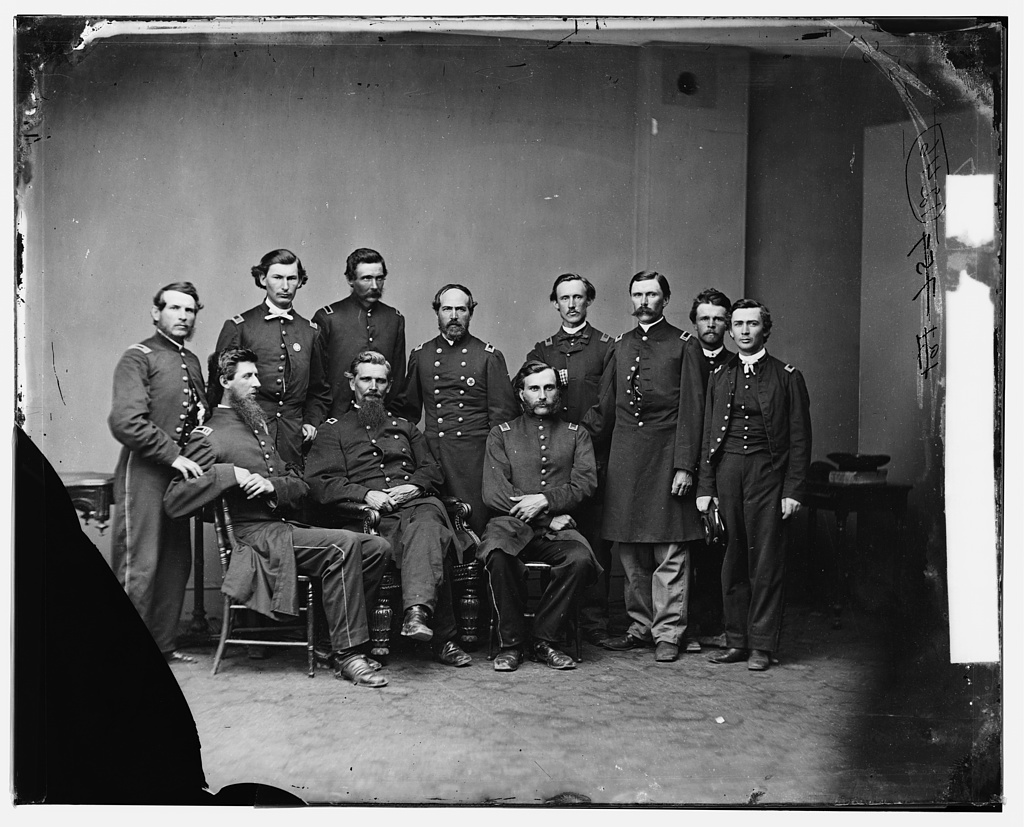 General Daniel Dustin and Staff
