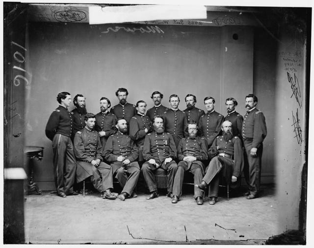 General Joseph Anthony Mower and staff