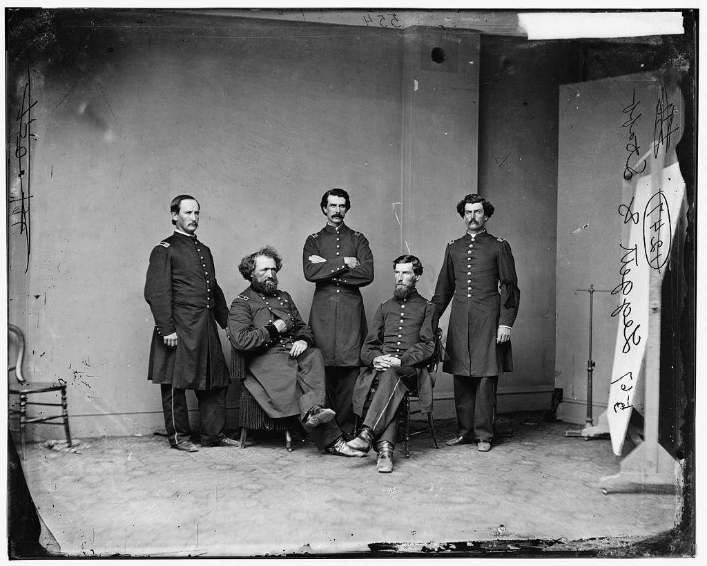 General M.D. Leggett and Staff