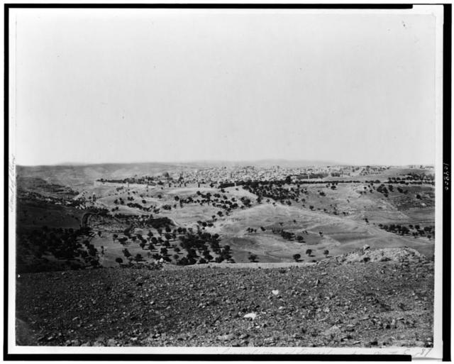 [General view of Jerusalem from North East] / P. Bergheim.