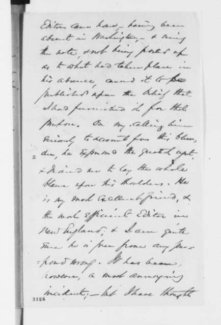 George Ashmun to Abraham Lincoln, Monday, June 18, 1860  (Publication of Lincoln's note)