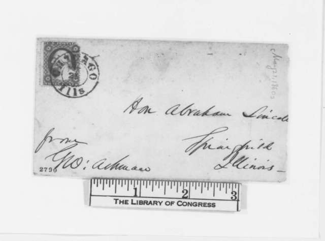 George Ashmun to Abraham Lincoln, Monday, May 21, 1860  (Request for letter)
