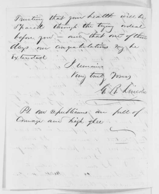 George B. Lincoln to Abraham Lincoln, Saturday, May 19, 1860  (Congratulations)