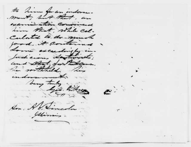 George G. Fogg to Abraham Lincoln, Thursday, December 13, 1860  (Chase and Helper's book)
