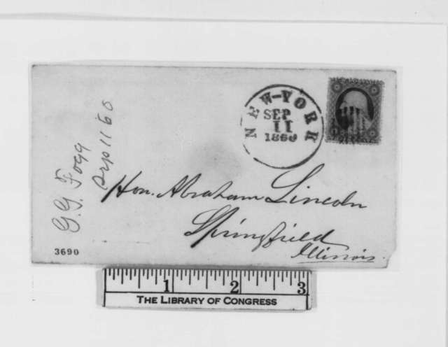 George G. Fogg to Abraham Lincoln, Tuesday, September 11, 1860  (Election prospects and results from Maine)