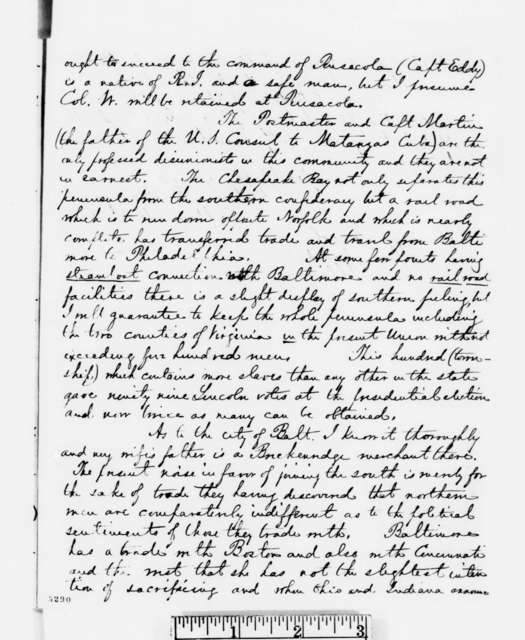 George W. Hazzard to Abraham Lincoln, Monday, December 24, 1860  (Report on loyalty of army commanders)