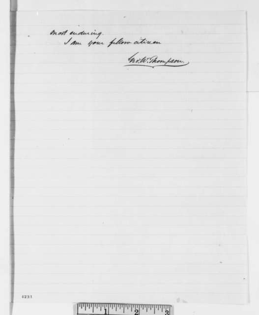 George W. Thompson to Abraham Lincoln, Wednesday, October 31, 1860  (Virginian urges Lincoln to preserve Union)