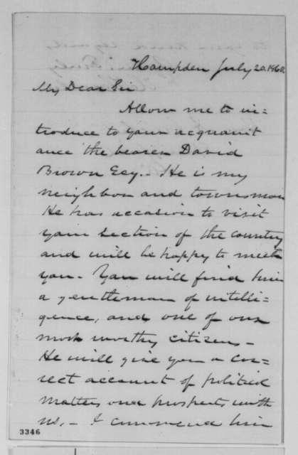 Hannibal Hamlin to Abraham Lincoln, Friday, July 20, 1860  (Introduction)