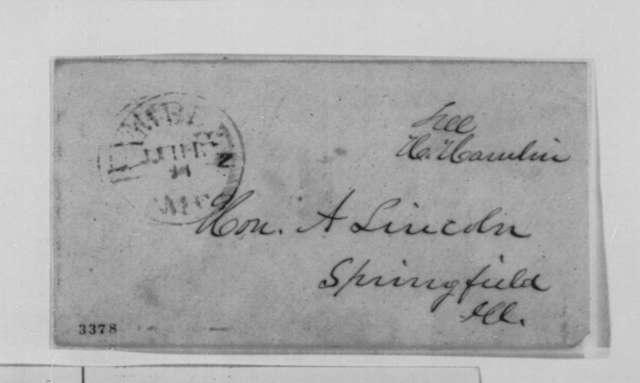 Hannibal Hamlin to Abraham Lincoln, Monday, July 23, 1860  (Political affairs)