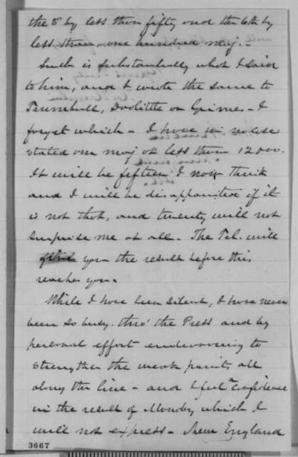 Hannibal Hamlin to Abraham Lincoln, Saturday, September 08, 1860  (Political affairs)