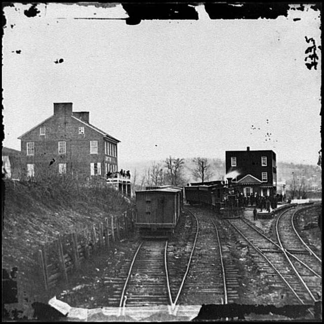 [Hanover Junction, Pa. Passenger train at depot]