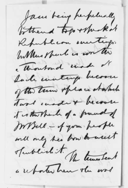Henry Winter Davis to David Davis, Monday, October 01, 1860  (Politics)