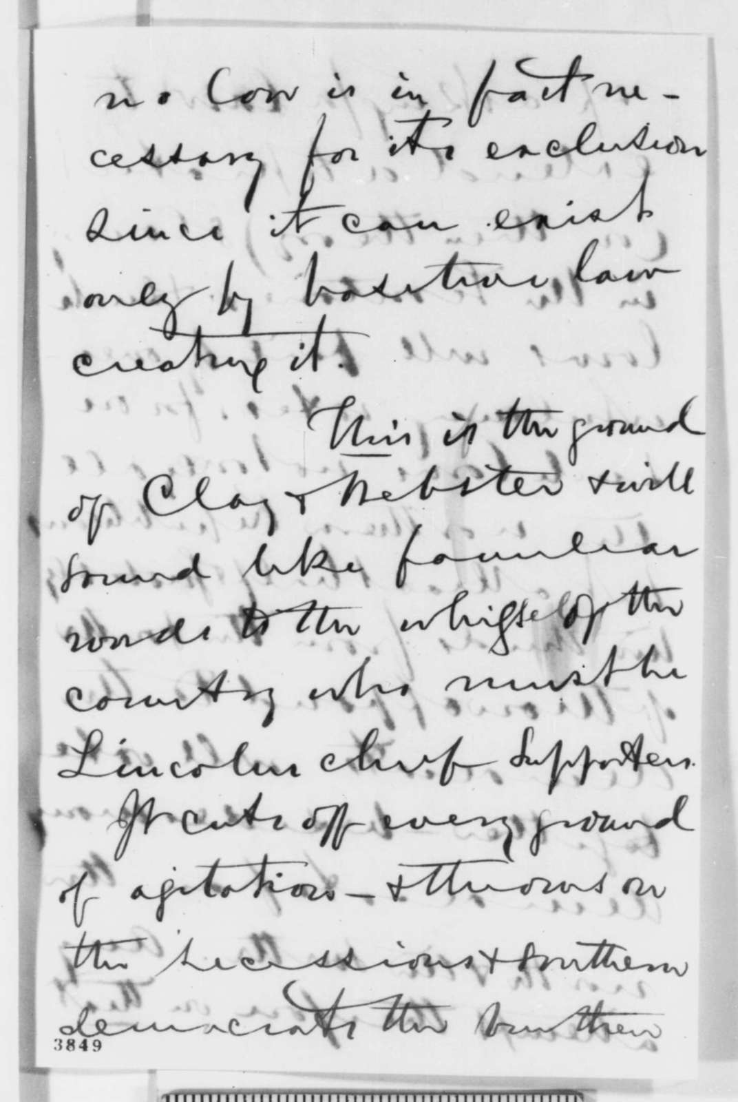 Henry Winter Davis to David Davis, September 1860  (Election prospects and cabinet appointments)