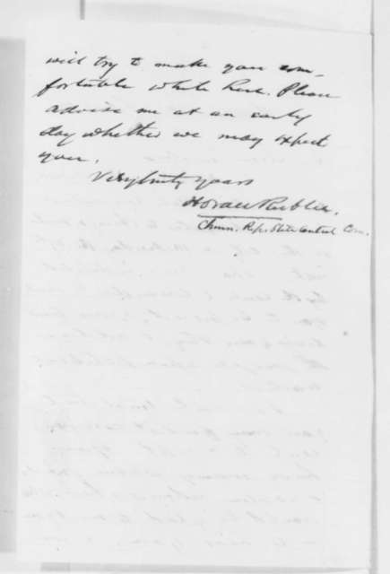 Horace Rublee (Wisconsin Republican Convention) to Abraham Lincoln, Monday, February 13, 1860  (Invitation [Wisconsin])