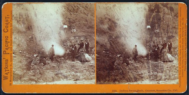 Indian sweat bath, geysers, Sonoma Co., Cal.