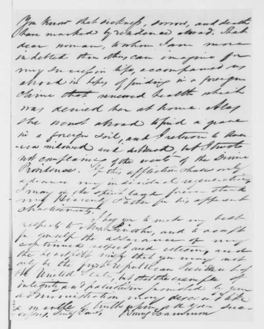 J. Young Scammon to Abraham Lincoln, Monday, May 28, 1860  (Congratulations)
