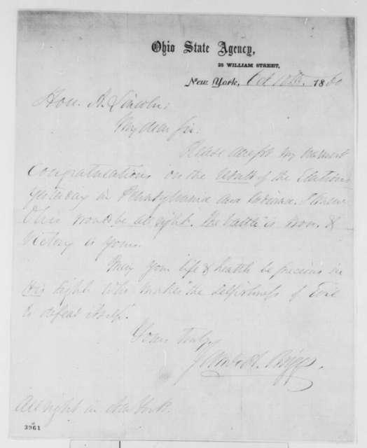 James A. Briggs to Abraham Lincoln, Wednesday, October 10, 1860  (Congratulations)