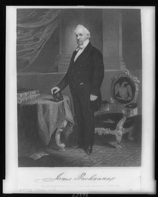 James Buchanan / engraved by permission, from the original in the possession of J.C. Buttre.