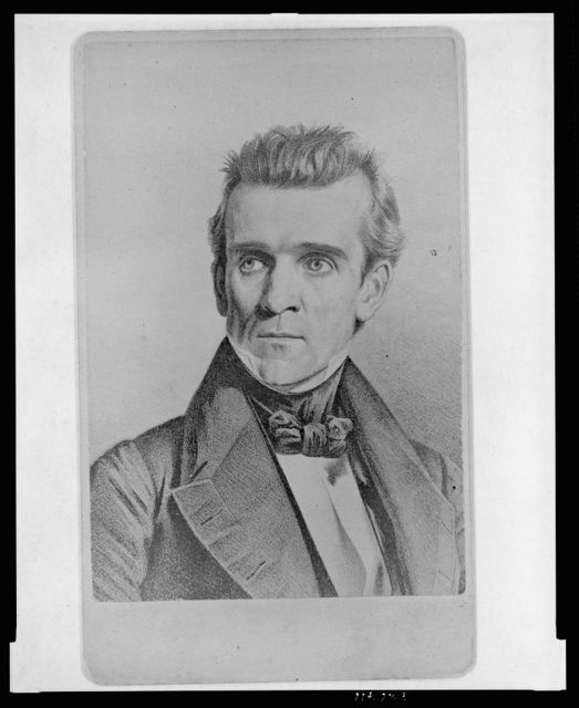 [James K. Polk, head-and-shoulders portrait, facing left]
