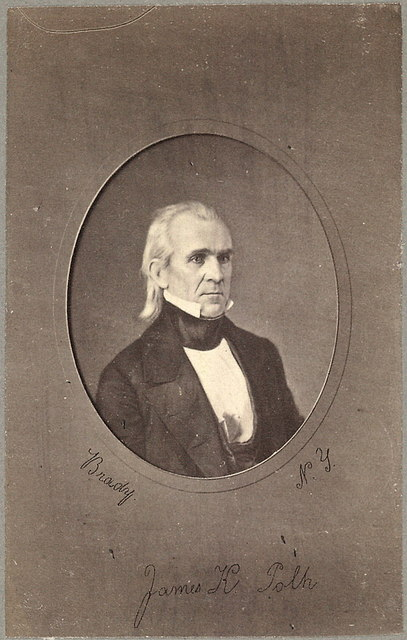 [James K. Polk, head-and-shoulders portrait, facing slightly right] / Brady, N.Y.