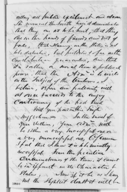 James O. Putnam to Abraham Lincoln, Tuesday, September 25, 1860  (Politics in New York)