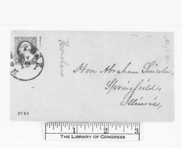 John C. Henshaw to Abraham Lincoln, Saturday, May 19, 1860  (Congratulations)