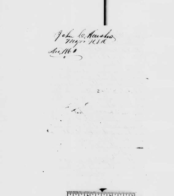 John C. Henshaw to Abraham Lincoln, Thursday, December 27, 1860  (Seeks help in regaining commission in army)