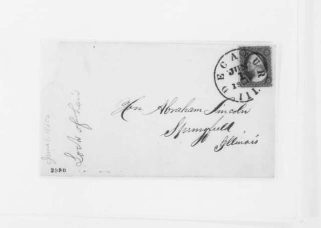 John M. Murry to Abraham Lincoln, Friday, June 01, 1860  (Wants a lock of Lincoln's hair)