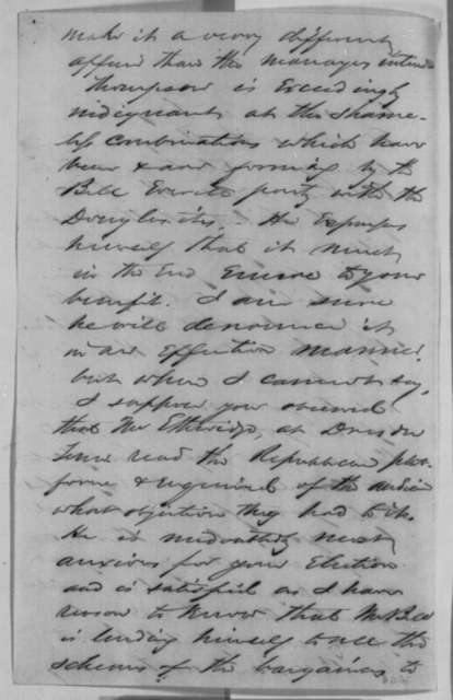 John P. Usher to Abraham Lincoln, Saturday, August 18, 1860  (Political developments in Indiana)