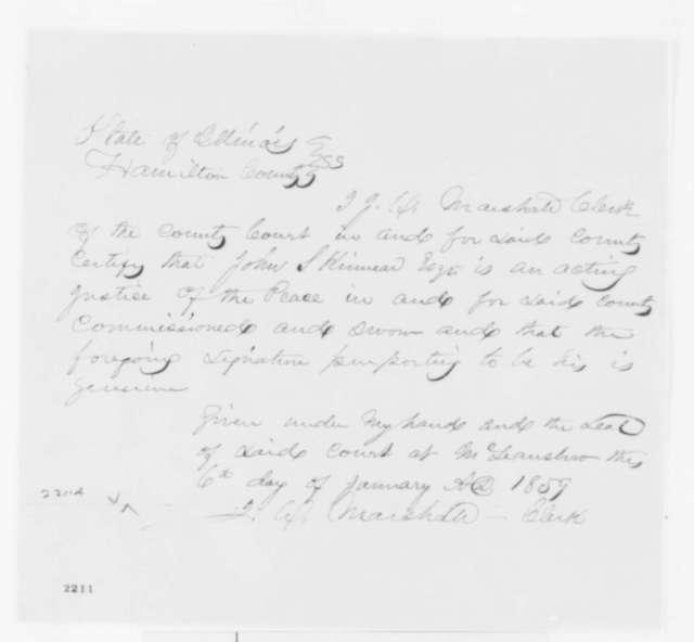 John S. Kinnear, Friday, January 06, 1860  (Affidavit)
