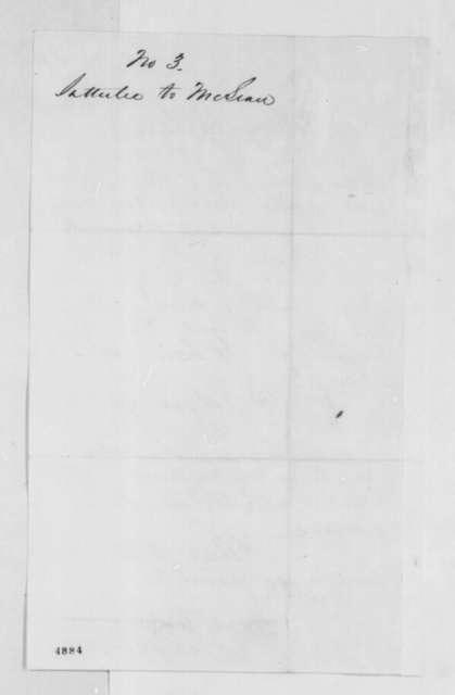 John Satterlee to John T. McLean, Friday, December 07, 1860  (Forwards recommendation)