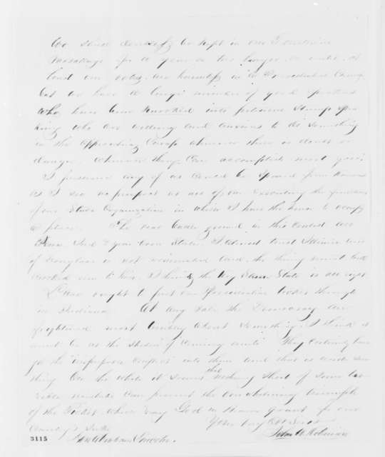 John W. Robinson to Abraham Lincoln, Saturday, June 16, 1860  (Nomination of Lincoln and political developments)