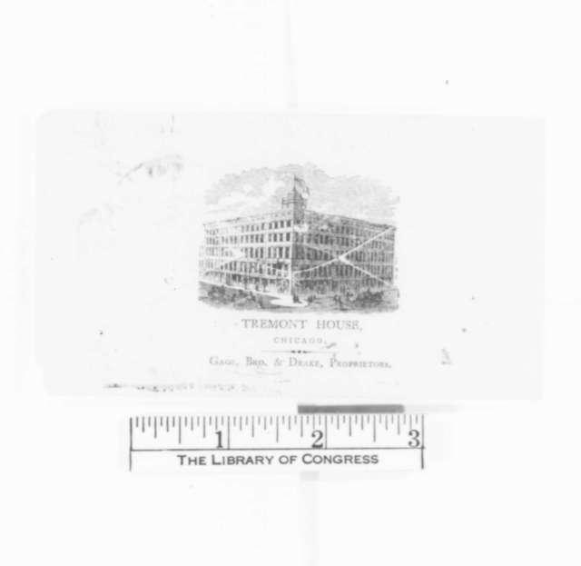 John Wentworth to Abraham Lincoln, Wednesday, February 22, 1860  (Invitation)