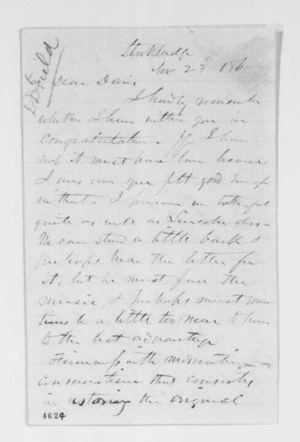 John Z. Goodrich to David Davis, Friday, November 23, 1860  (Congratulations, endorsement for David Dudley Field)