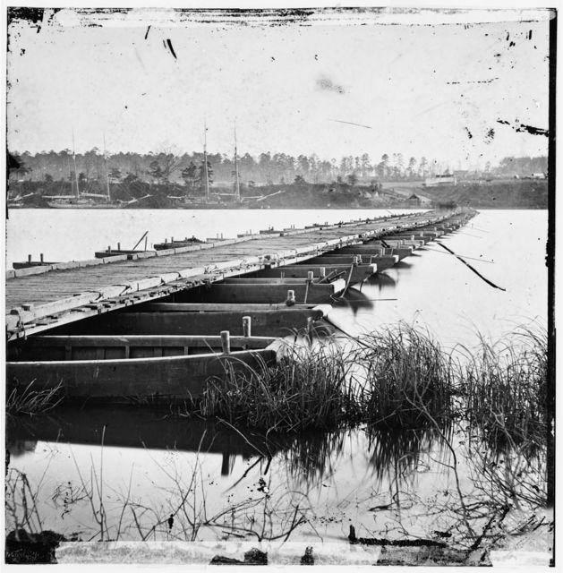 [Jones' Landing, Va., vicinity. Pontoon bridge over the James, from the north bank]